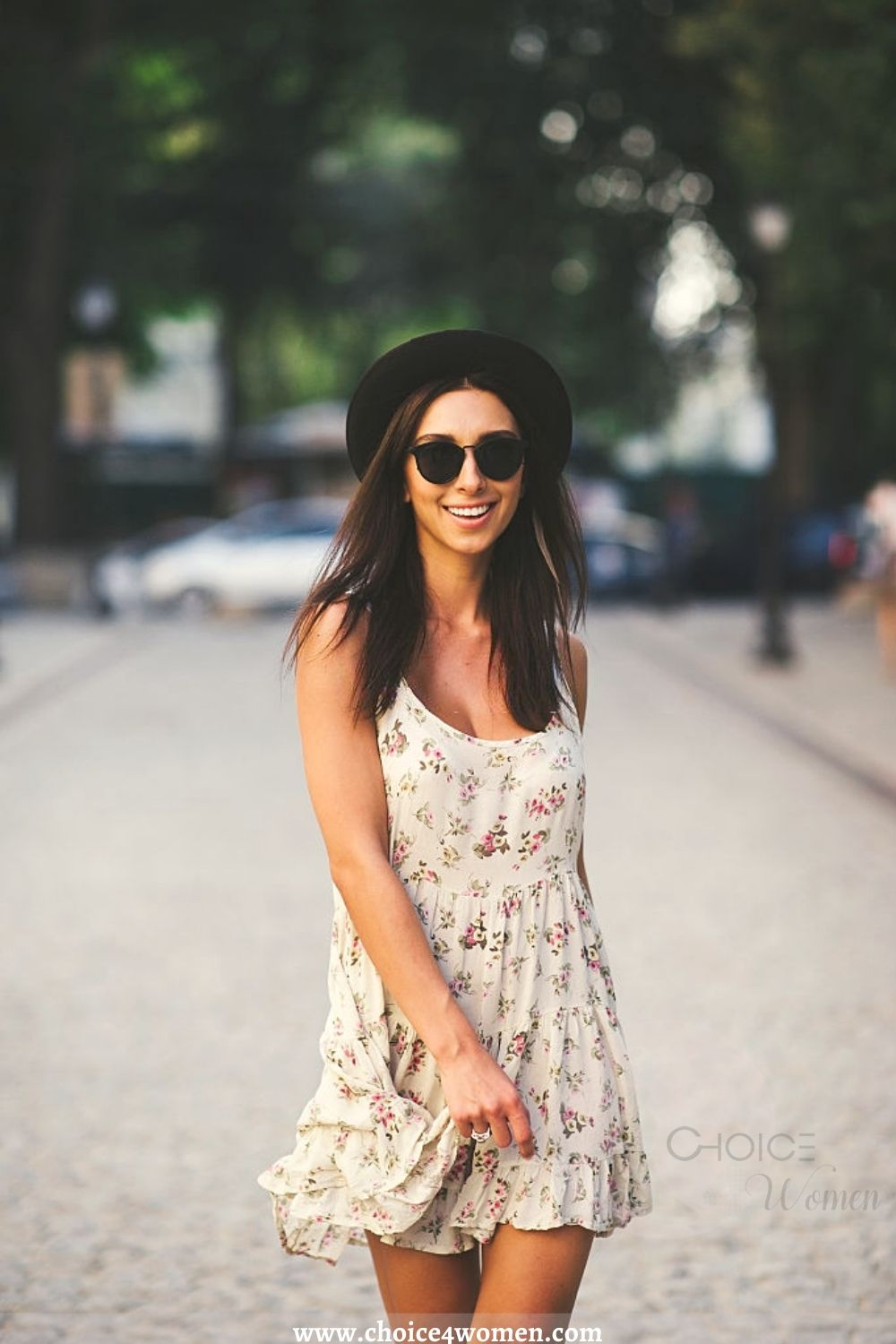 outfit ideas for women with summer hat