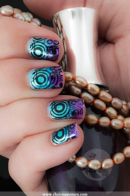 Color Splash Simple Nail Designs