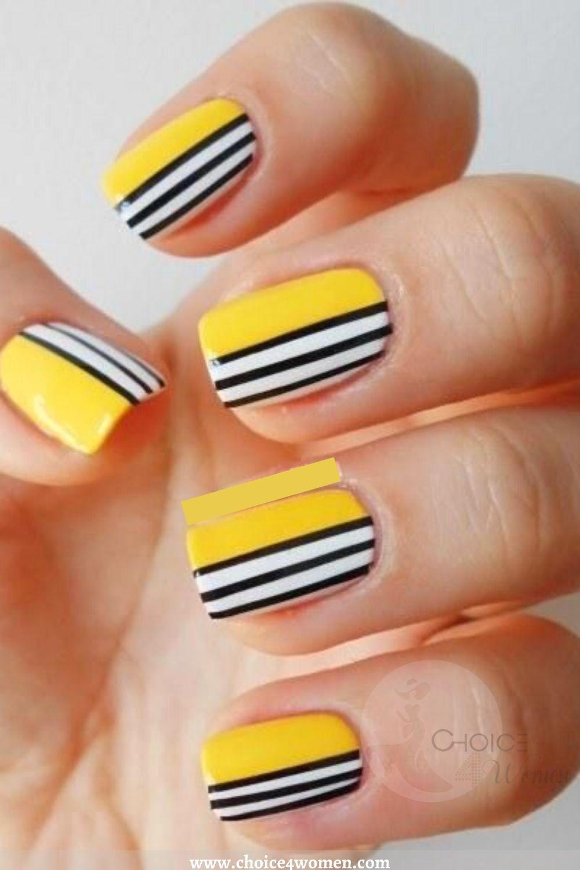 Pinstripe in short nail designs