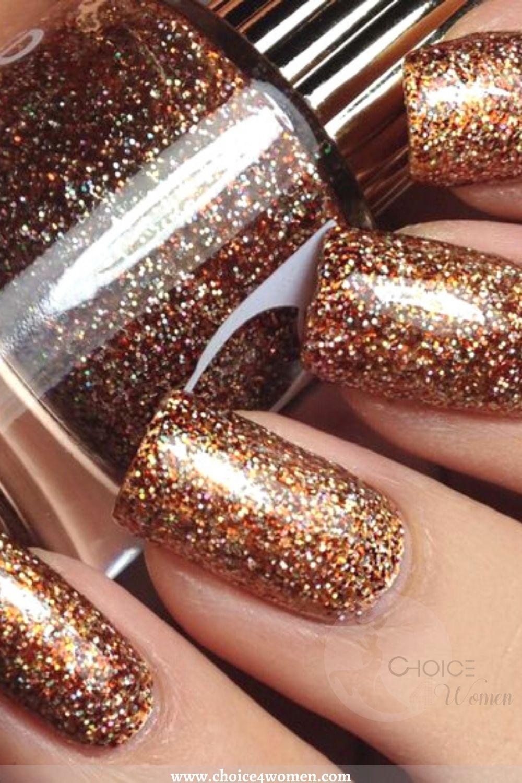 golden creative nails