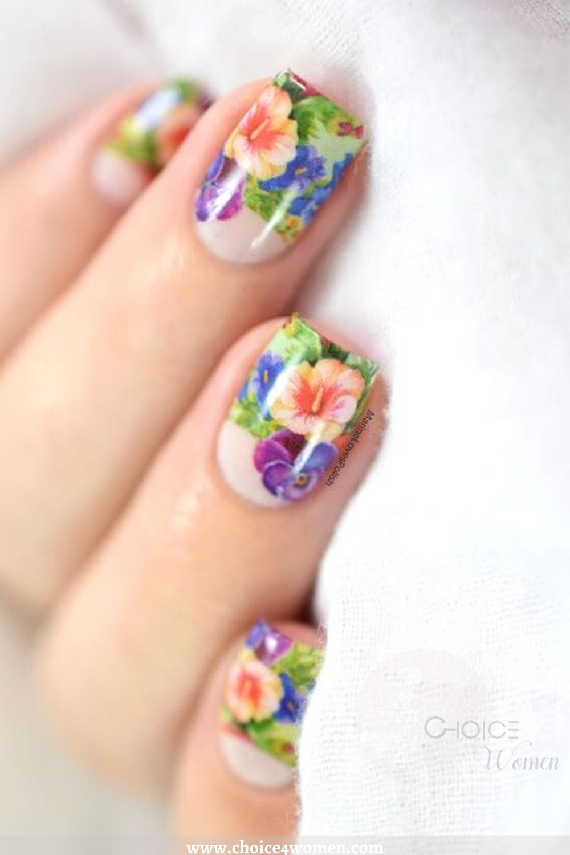 Flower Creative Nails Art