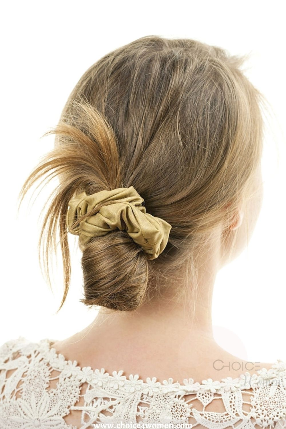 Messy Updo for long hairstyles