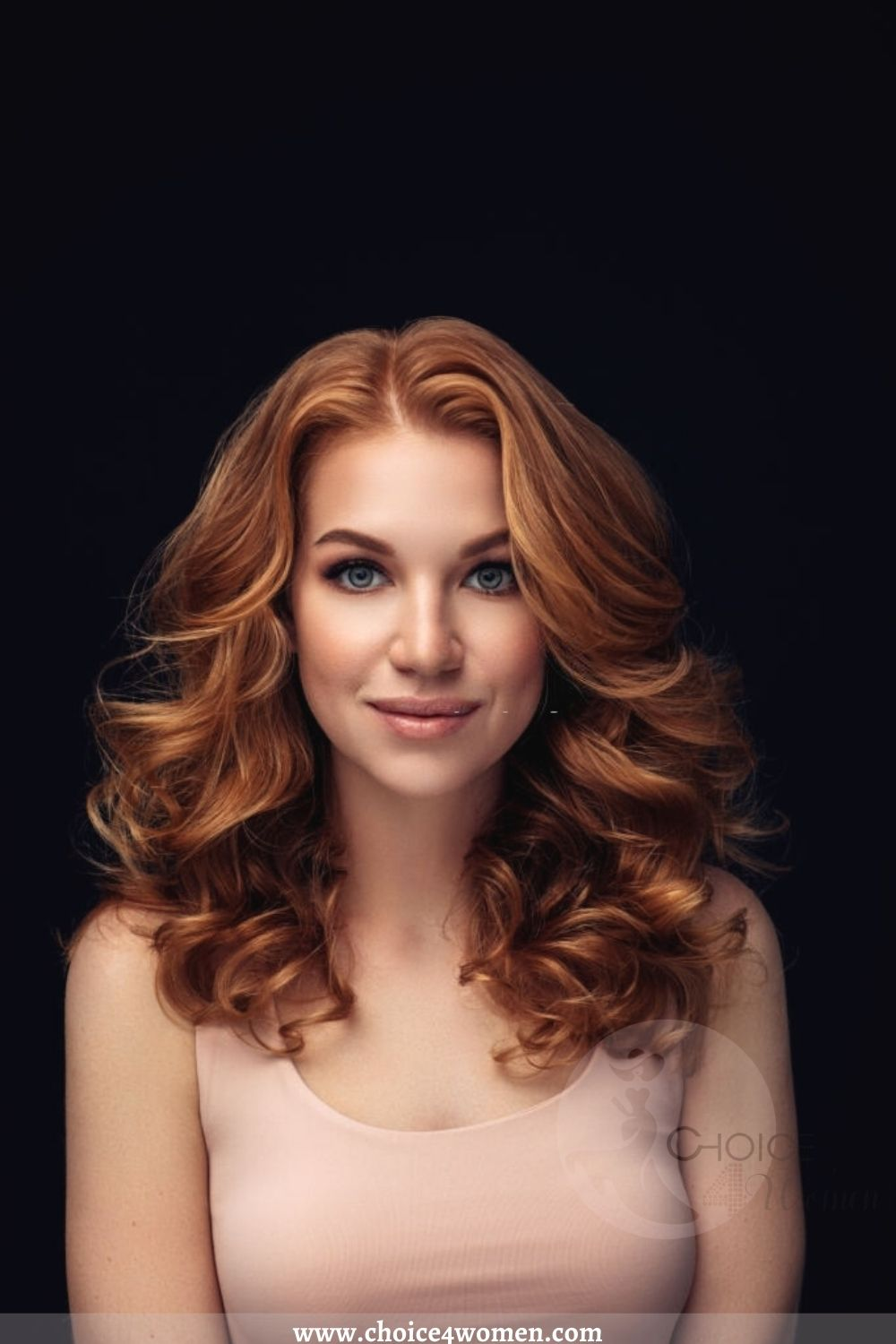 Middle-Parted Layered Wavy Hairstyles