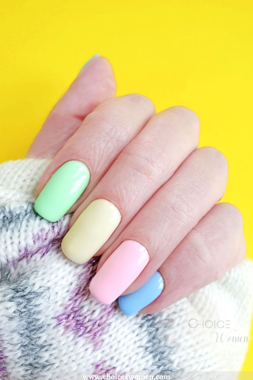Ombre long nail designs