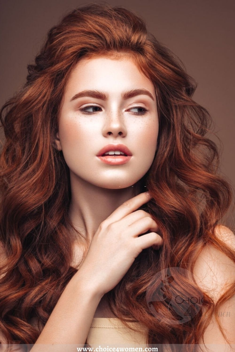 Red Layered Wavy Hairstyles