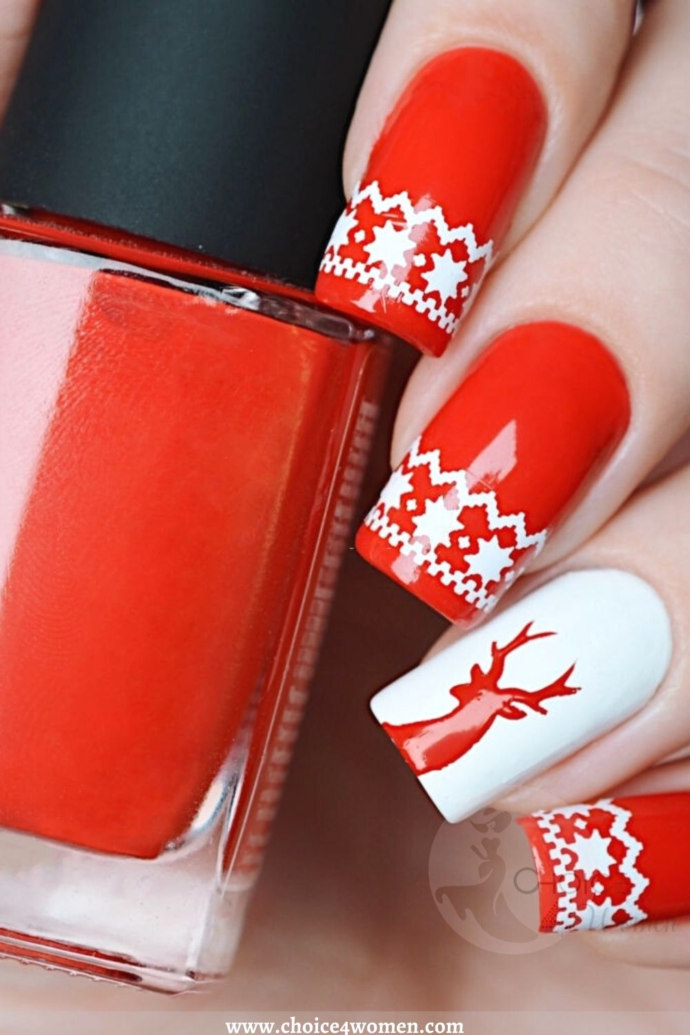 Simple Nail Designs in red
