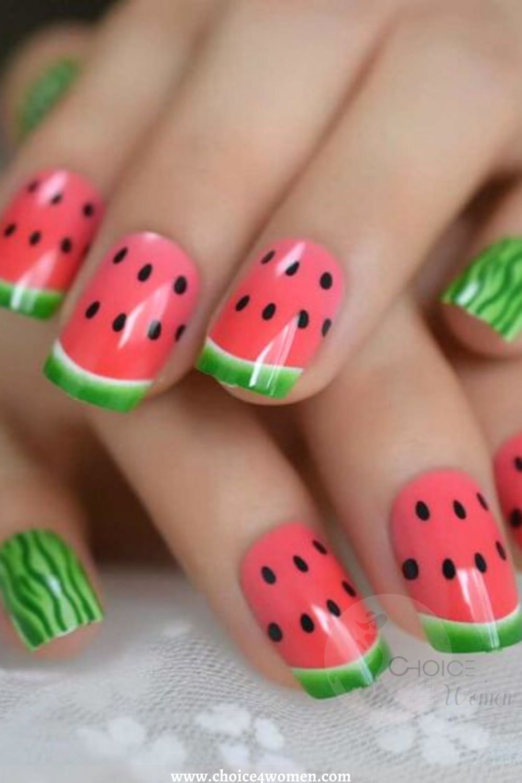 Watermelon Creative Nails