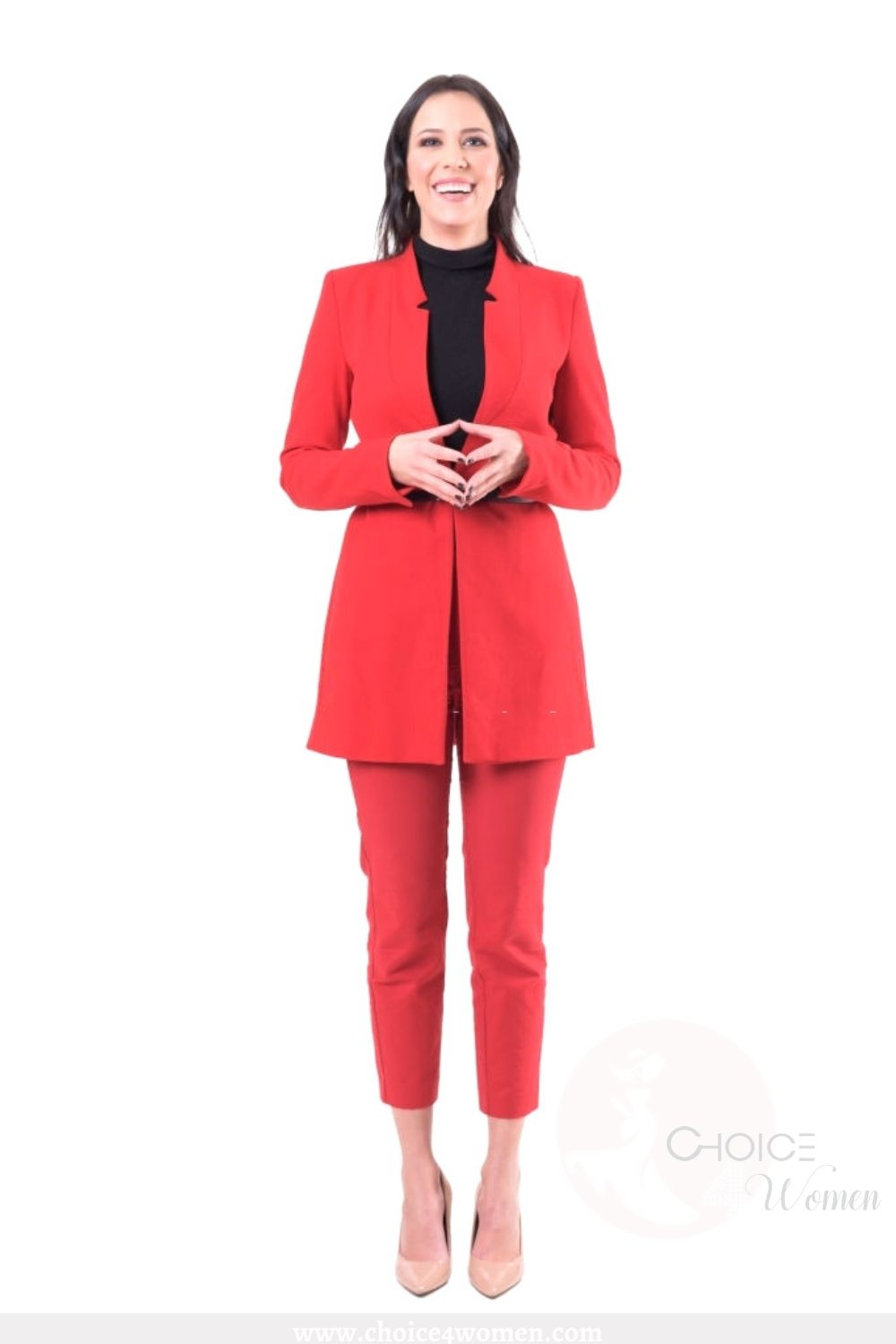 business outfits for women in red
