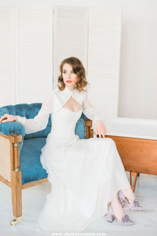 white long dress with jacket