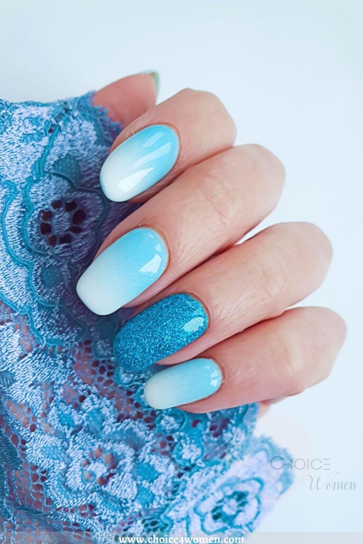 sky blue long nail designs