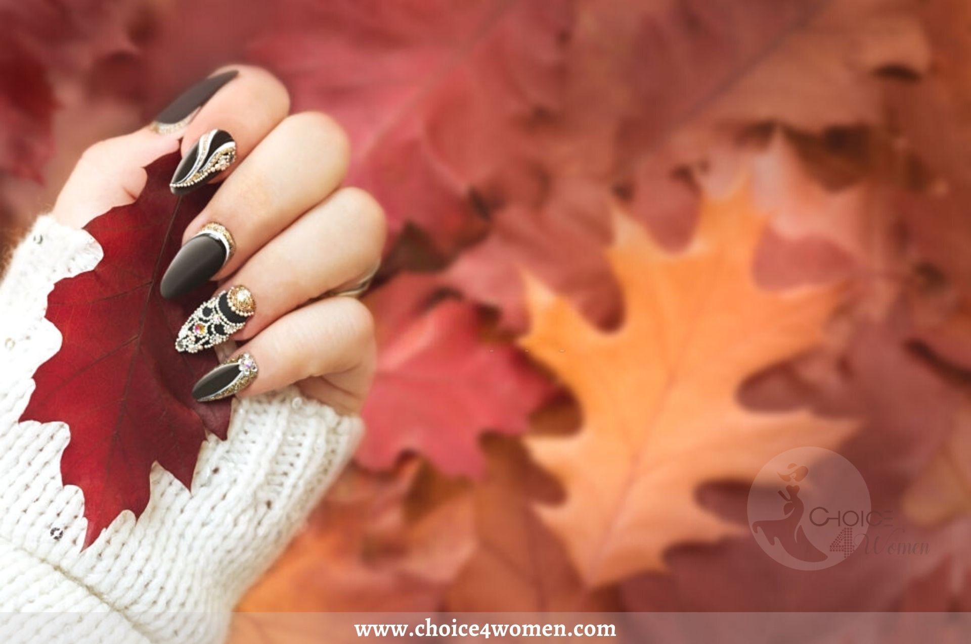 Top Most Beautiful & Stunning Diamond Nails Art Designs